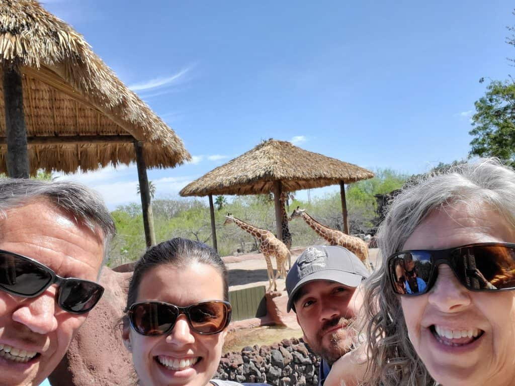 giraffe selfie at gladys porter zoo in brownsville texas