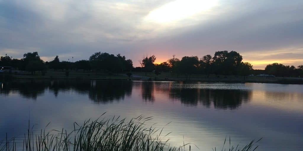 lake sunset in childress texas