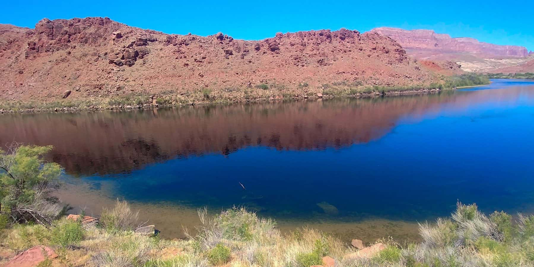 colorado river at lee's ferry division of glen canyon national recreation area