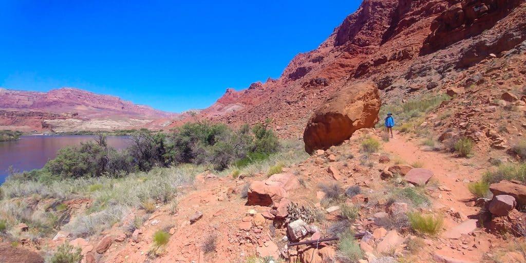 riverside trail at glen canyon NRA near page arizona