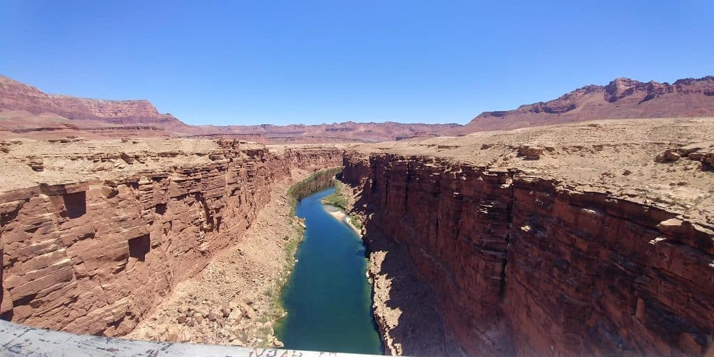 view from navajo bridge visit during our 2-days in Page Arizona