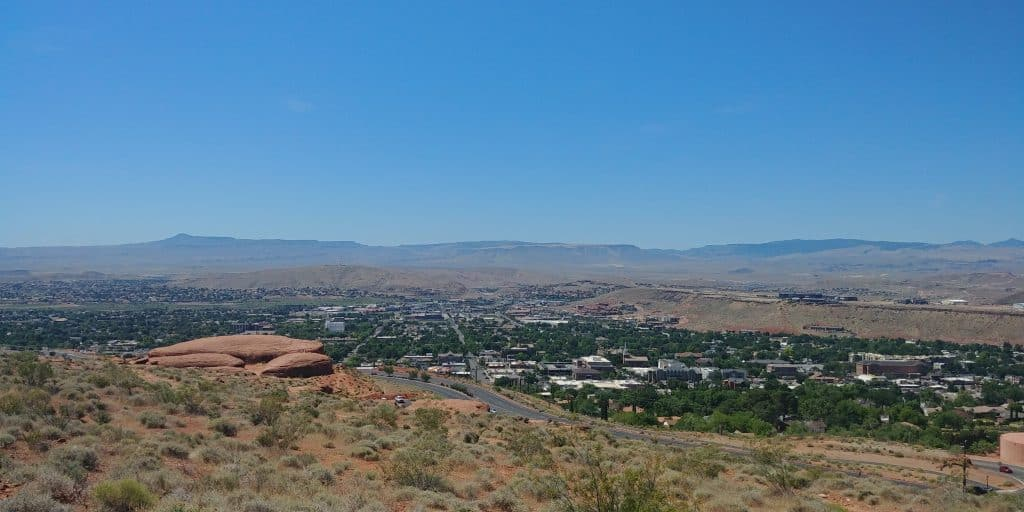Pioneer Park is a cool thing to do in St George Utah. This the view from the Pioneer Trail