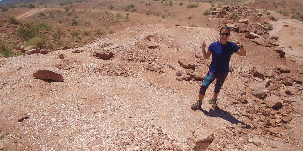 Collecting gypsum at glitter mountain is great free thing to do near st george utah