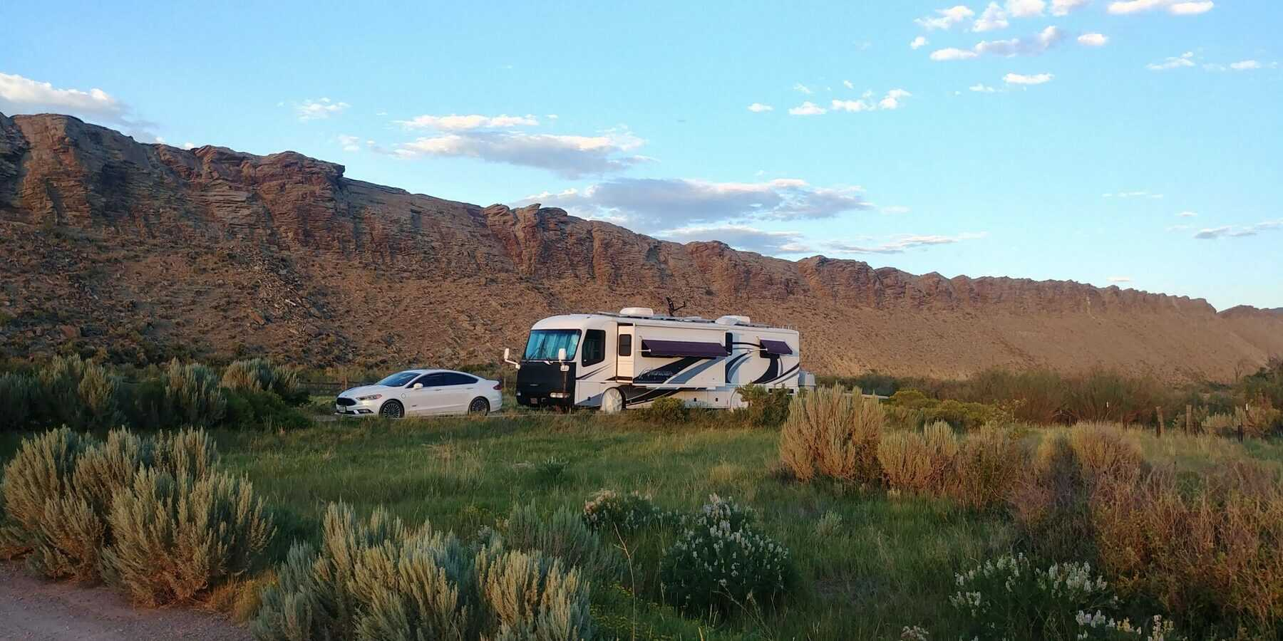 pippi our motorhome near rawlins wyoming