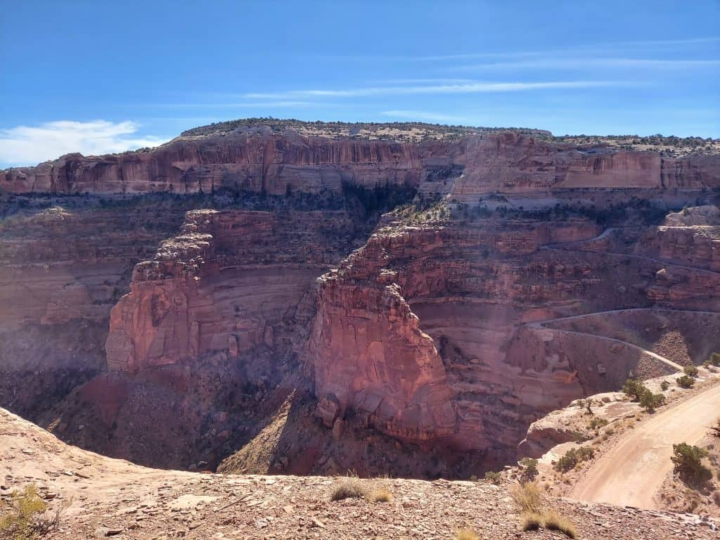 cliff view from our half-day in canyonland