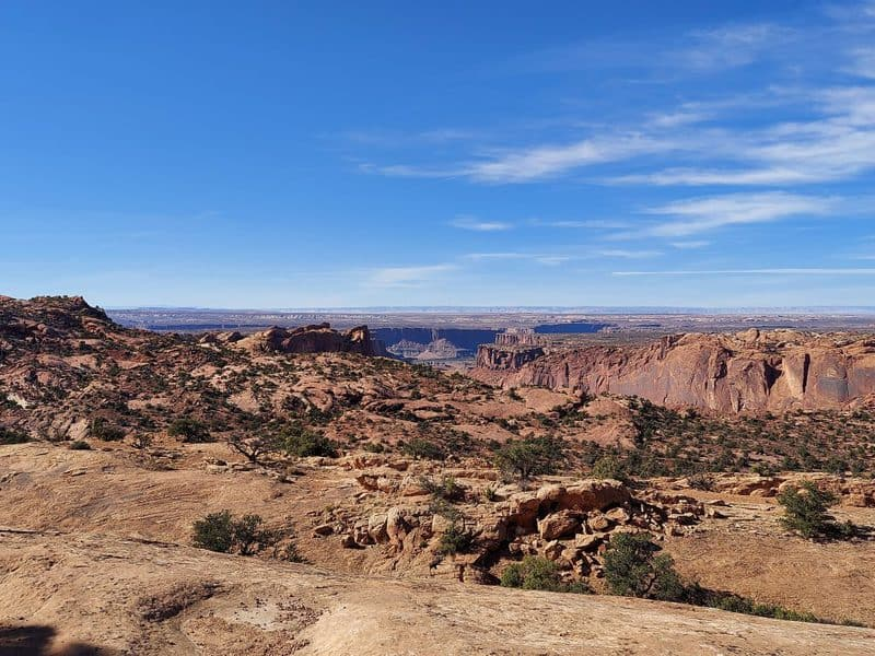 view from whale rock canyonlands national park