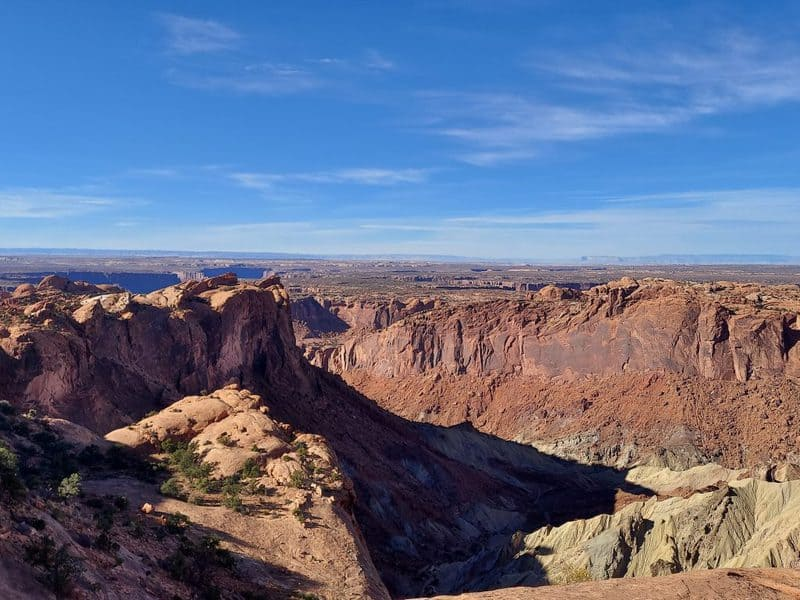 back view from whale rock canyonlands national park moab utah