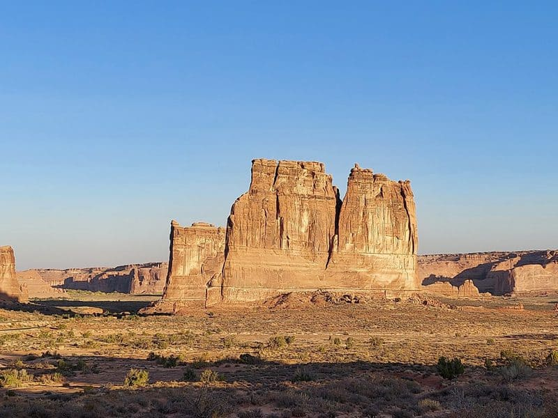courthouse tower at arches national park