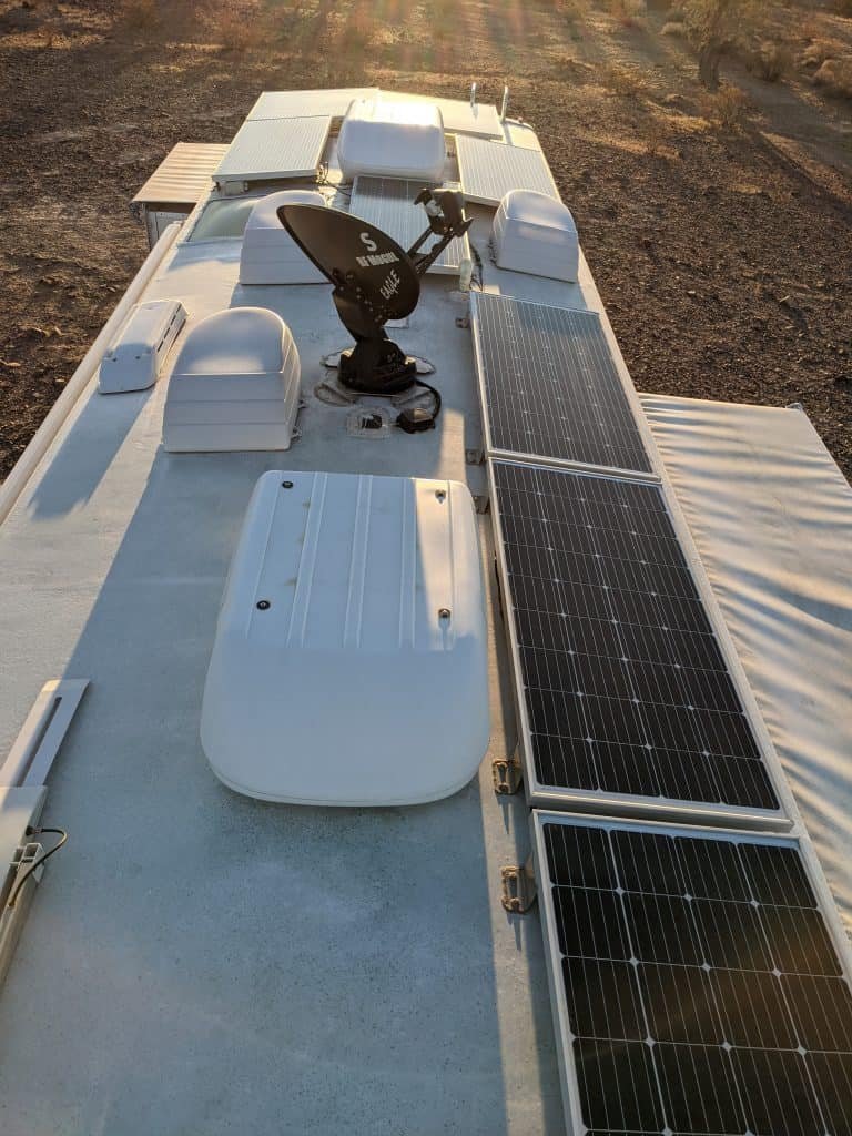 we added 8 panels to pippi's roof as part of our rv solar installation