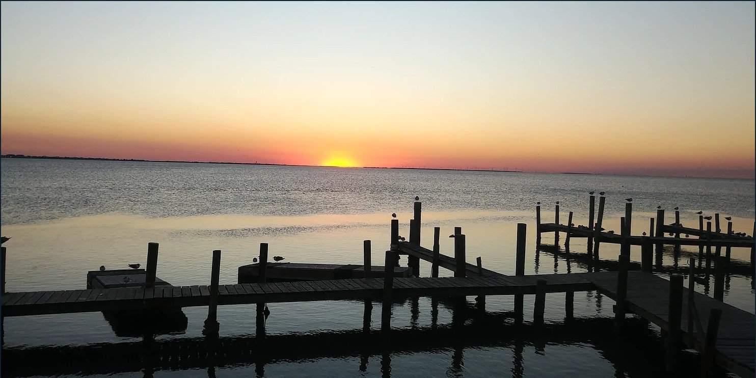 sunset pier south padre island texas