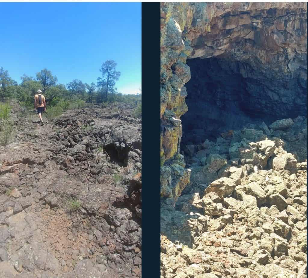 big tubes hike at el malpais national conservation area