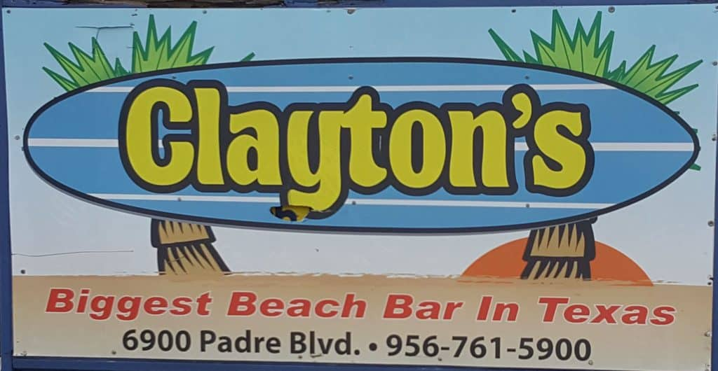 claytons beach bar is busy in the afternoon with winter texans enjoying cheap drinks and live music