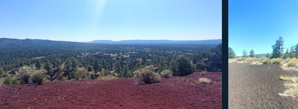 volcanic red dirt at el malpais
