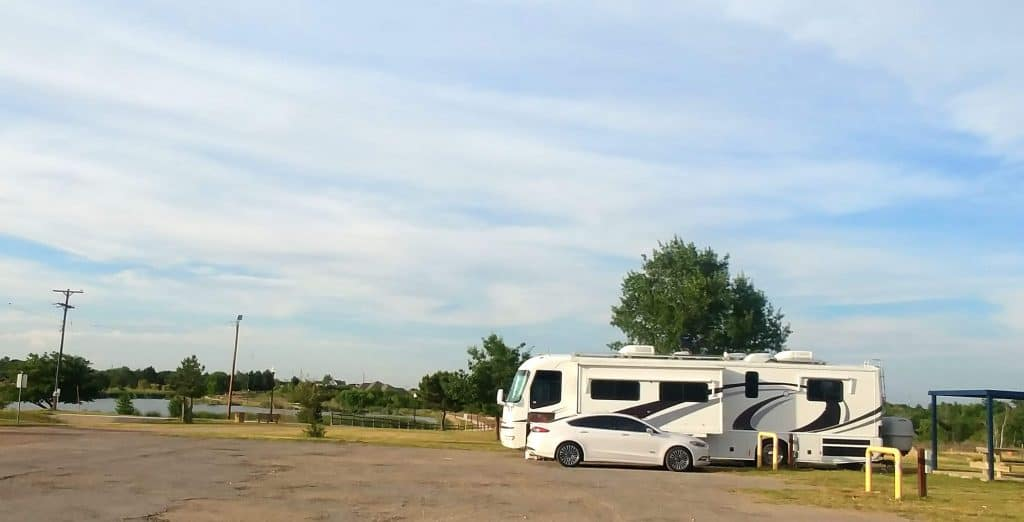 pippi our motorhome parked at childress texas fairground campground