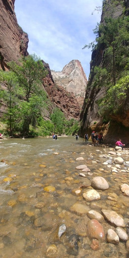 view of the narrows in zion