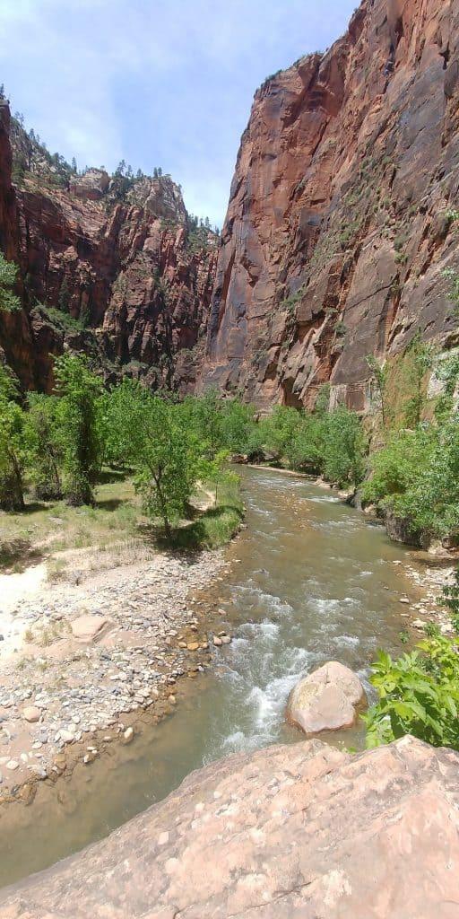 riverside trail in zion