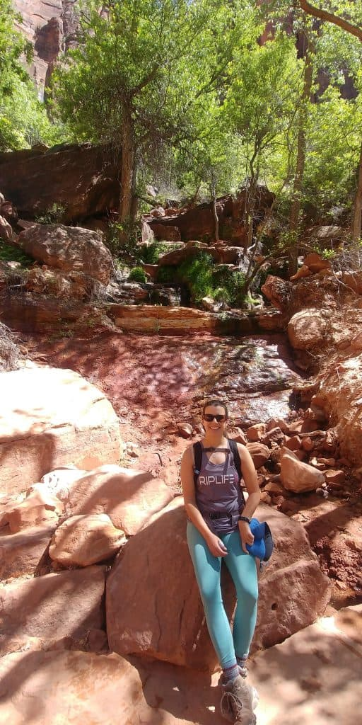 kara at middle emerald pools in zion