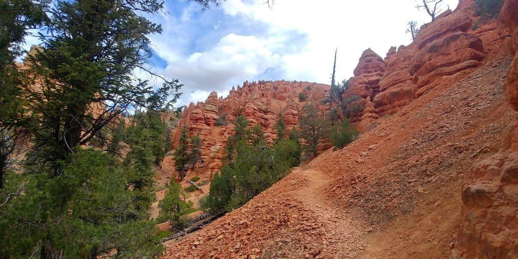 birds eye trail near red canyon