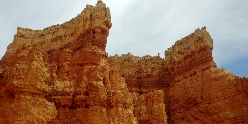 hoodoos from inside the canyon on the queens garden trail
