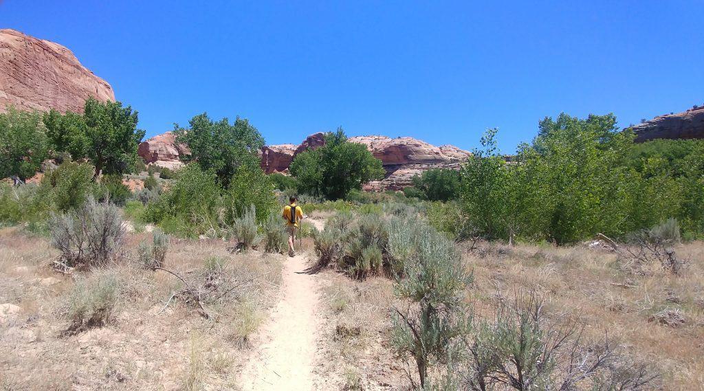 kevin on sandy trail in escalante