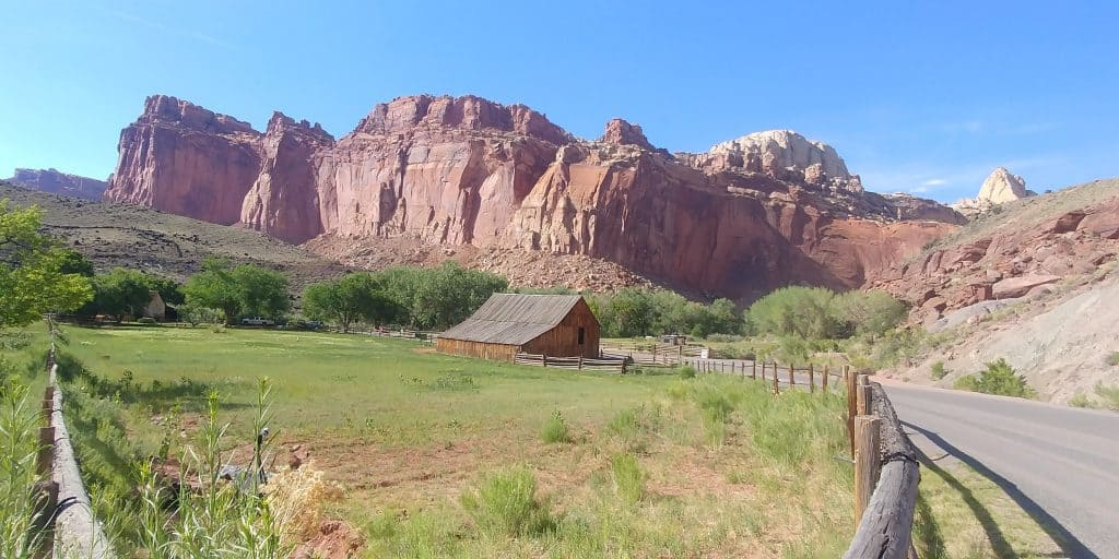 barn in historic fruita within capitol reef national park