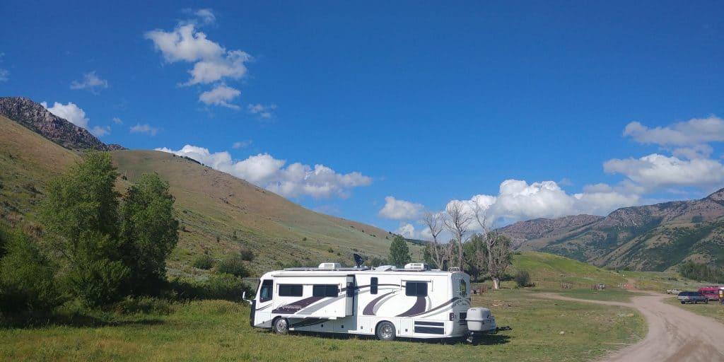 pippi the motorhome at free camping near ogden utah