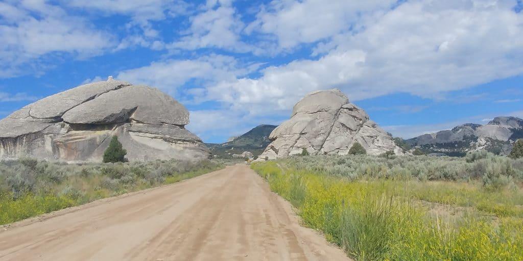 dirt road in city of rocks