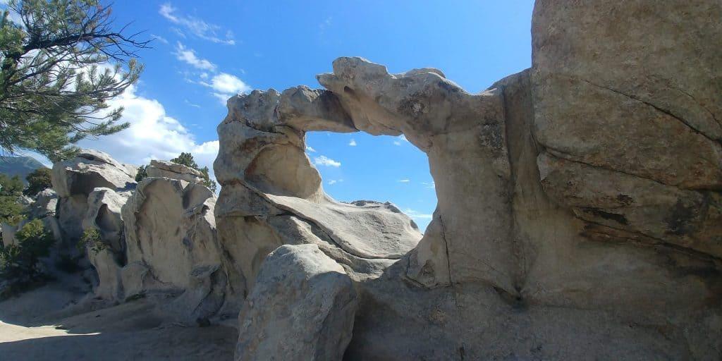 window rock at city of rocks