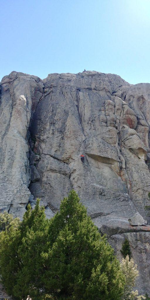 climber at city of rocks