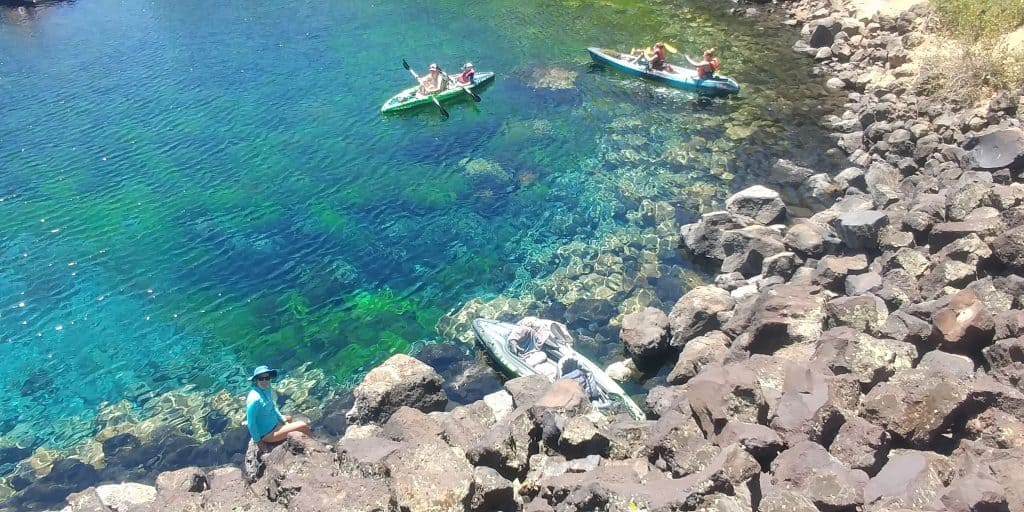 kayak the blue heart springs is a can't miss thing to do near Twin Falls Idaho