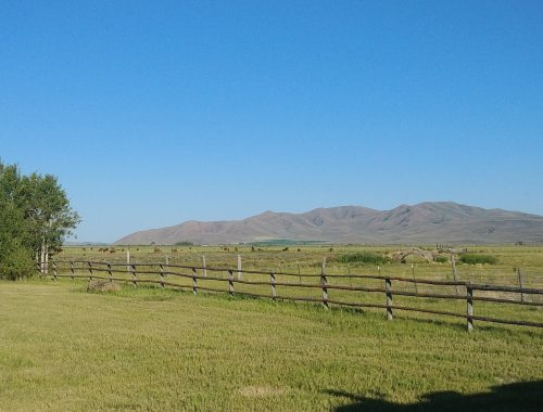 idaho farms are peaceful places for rv camping. view from Kraays Market and Garden