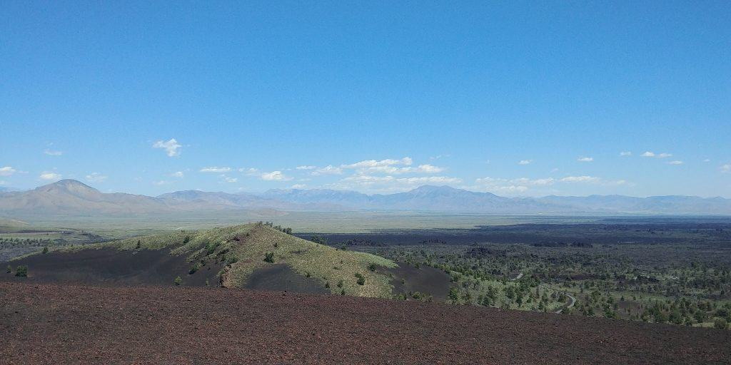 view from inferno at craters of the moon