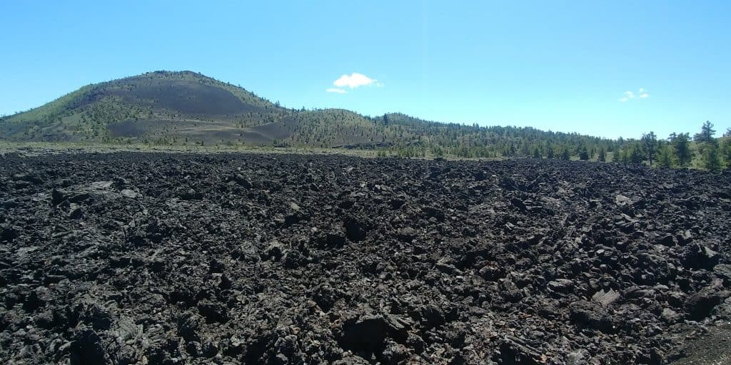 lava field at craters of the moon