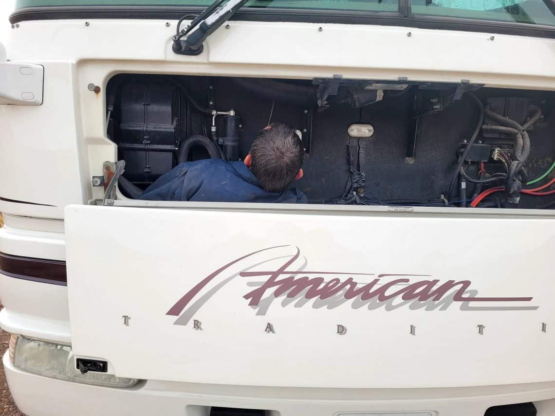 kevin working on rv generator