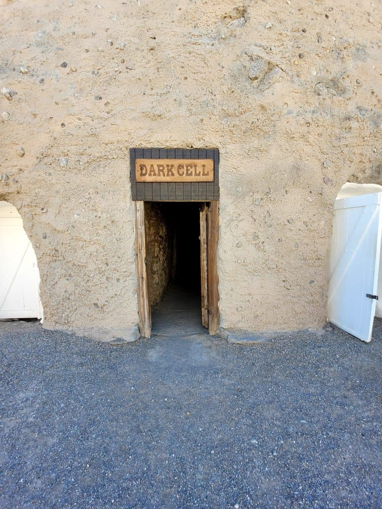 the dark cell (solitary confinement) at yuma territorial prison