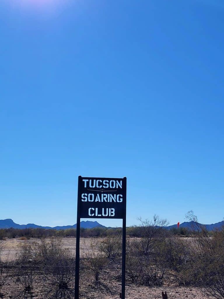 tucson soaring club sign