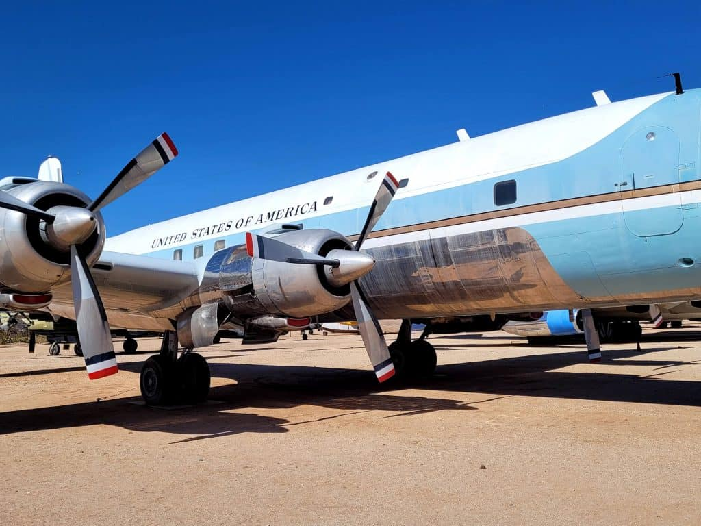 air force one for president kennedy and johnson at pima air and space museum