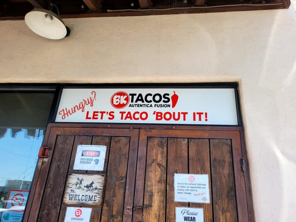 let's taco 'bout it at BK tacos in tucson