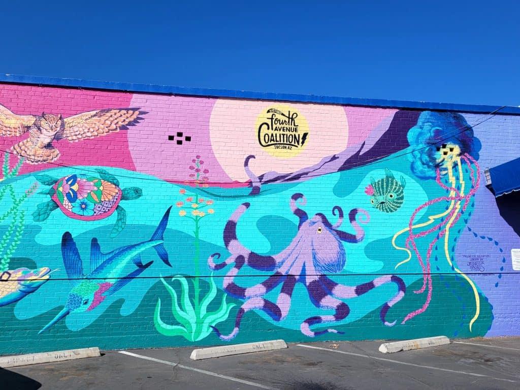 sealife mural in tucson