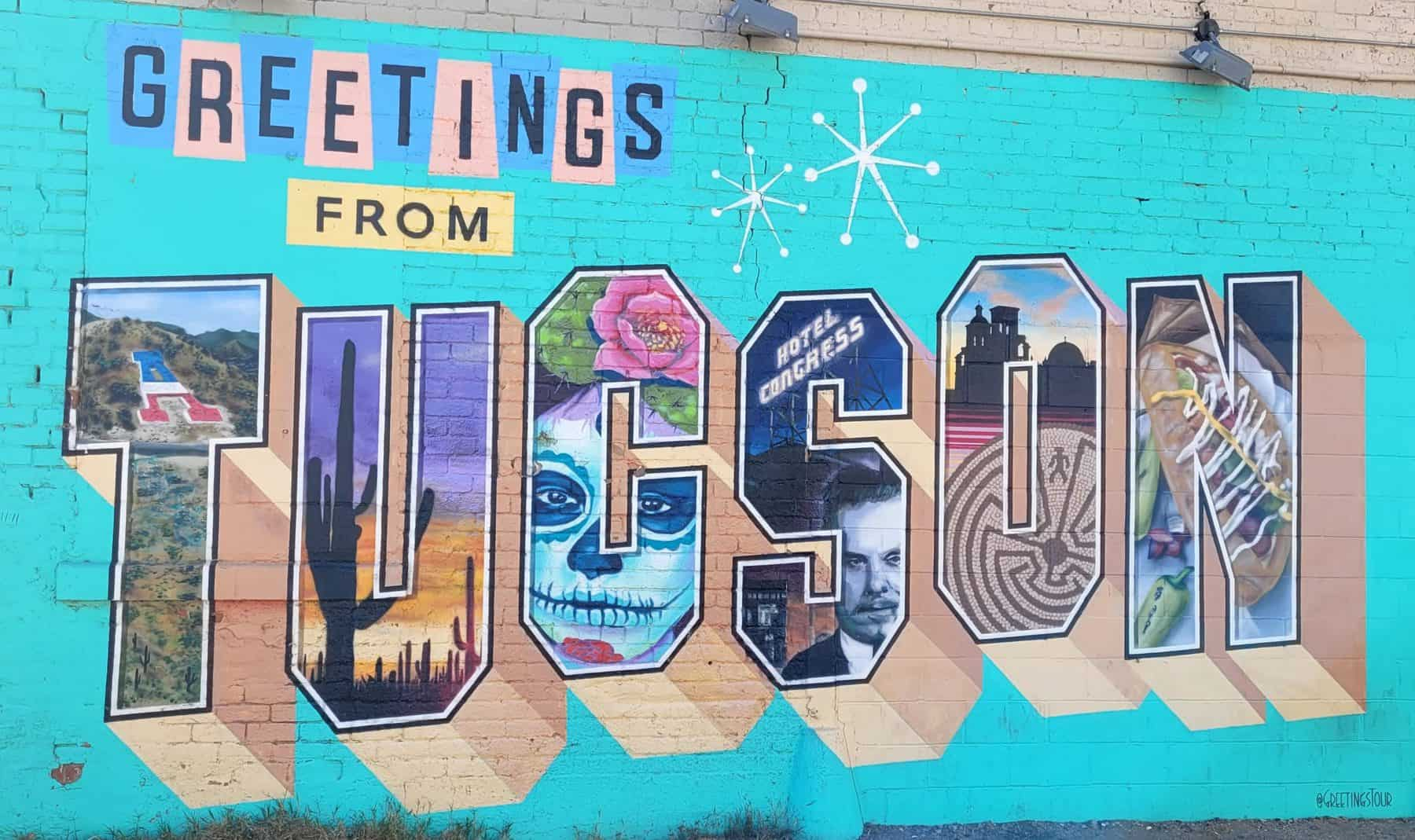 greeting from tucson mural