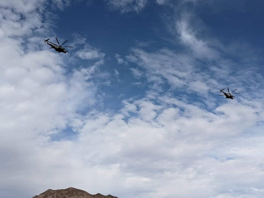 military fly over