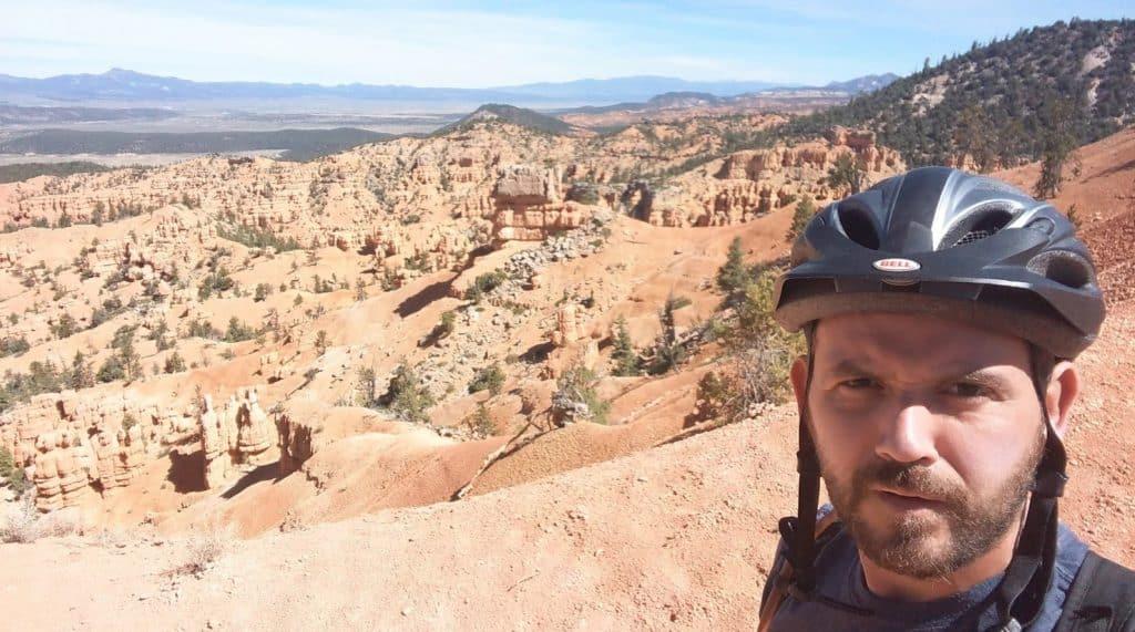 kevin on thunder mountain bike trail near red canyon utah