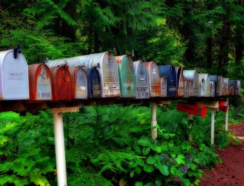 rural mailboxes to remind you of times before you had to figure out how to get mail when traveling