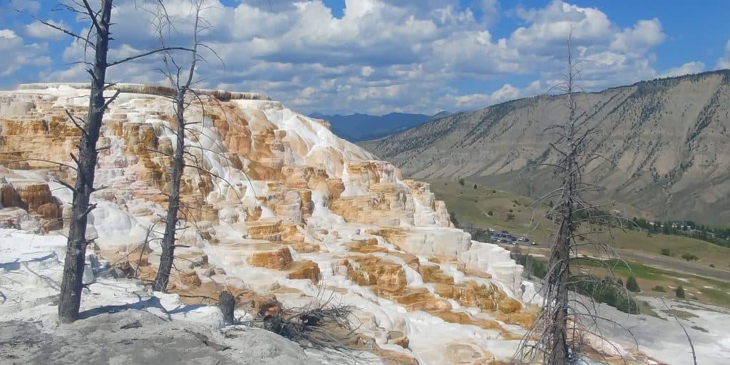 mammoth hot springs at yellowstone