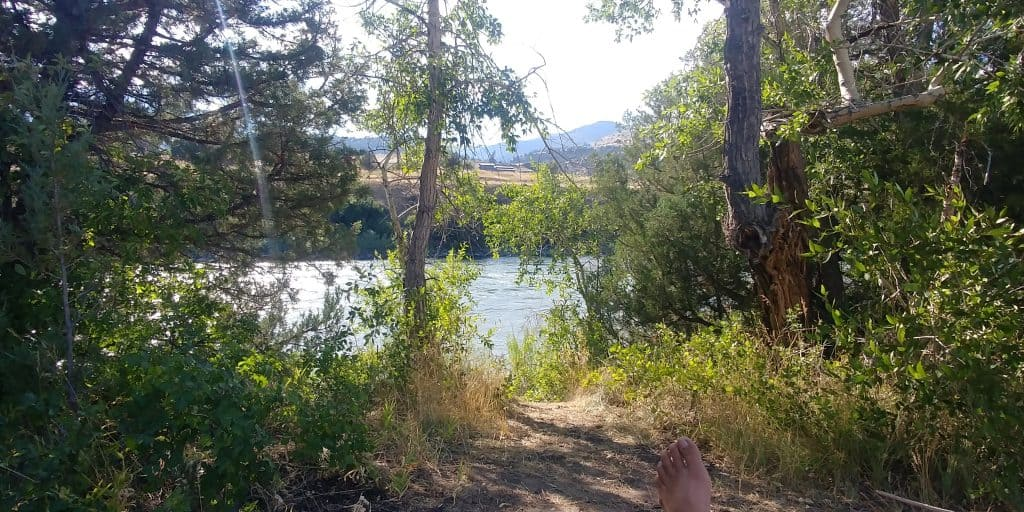 free campsite near gardiner montana along the yellowstone river