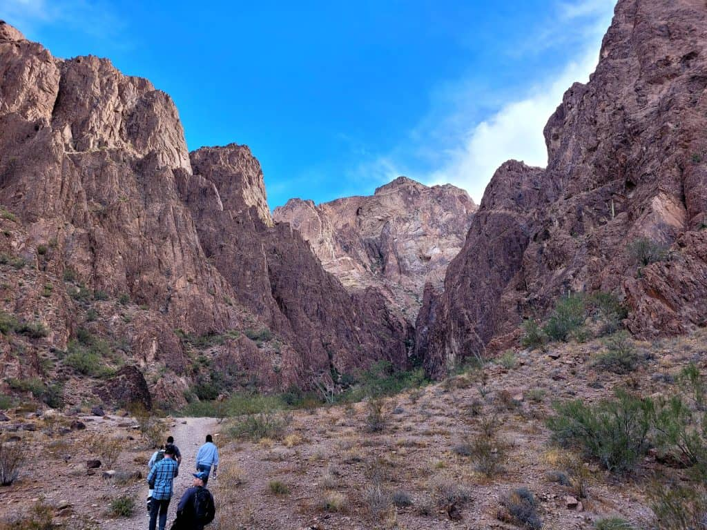 hiking palm canyon with friends
