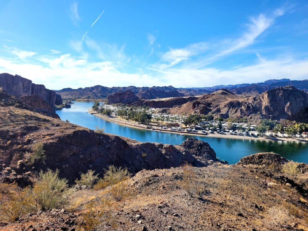 view of colorado river from bucksin trails