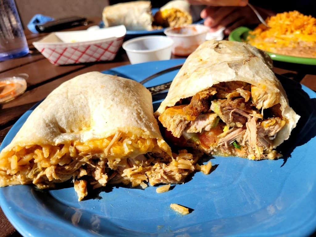 burritos at chico's tacos in lake havasu