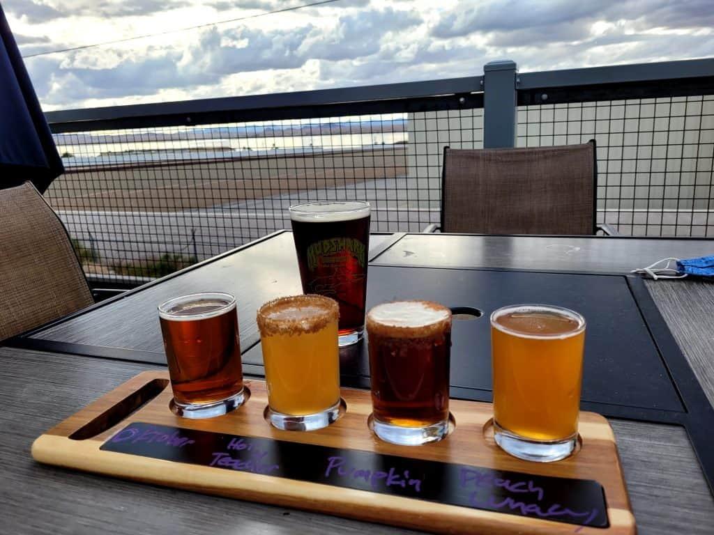 mudshark brewery flight in lake havasu