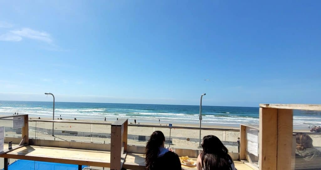 view of pacific beach from pb shore club